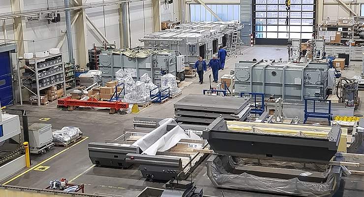 Impressive Daetwyler production hall in Estonia with large production line