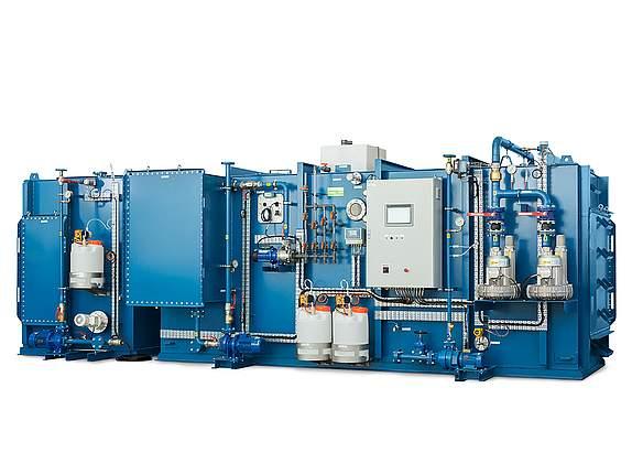 MBR (Bioreaktor mit Membranen, dient für Abwasseraufbereitung auf diversen Schiffen, Kunde Evac OY